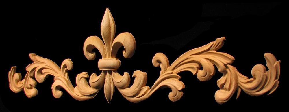 Onlay - Fleur de Lis #3 with Scrollwork