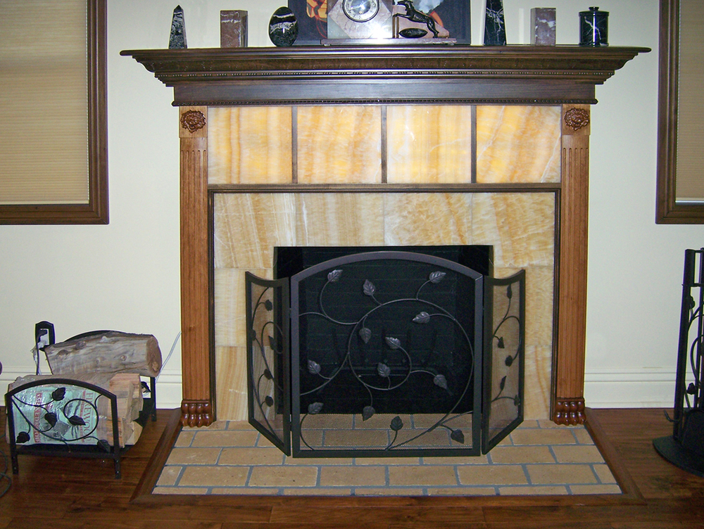Lion Pilaster on Fireplace