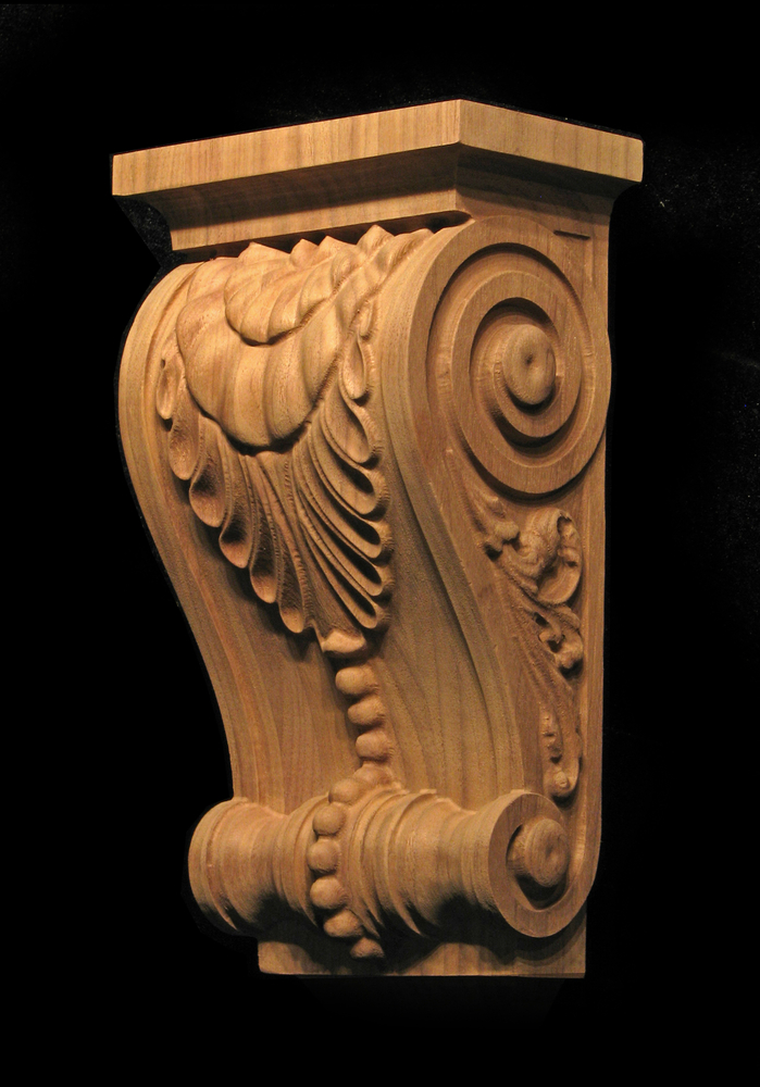 Custom Corbel - Leaf and Bead