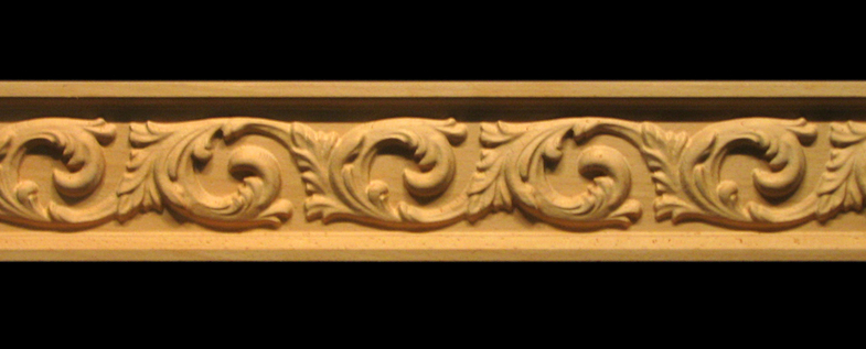 Frieze Acanthus Flourish Decorative Carved Wood Molding