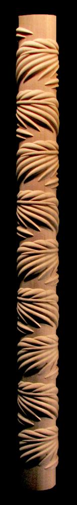 Palm Leaf Corner Column - 3 Qtr Round