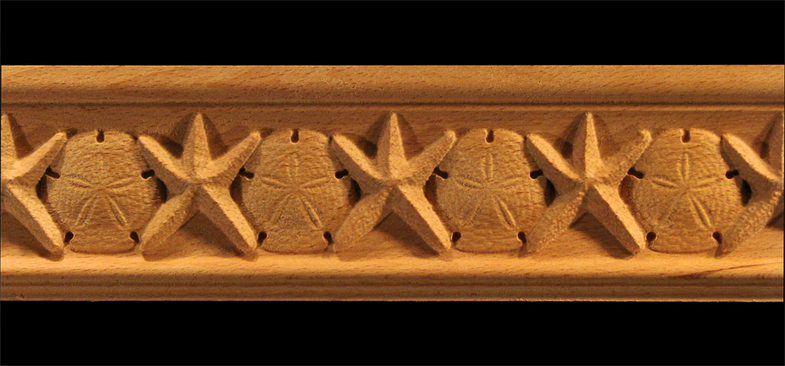 Moulding Starfish Amp Sand Dollar Carved Wood