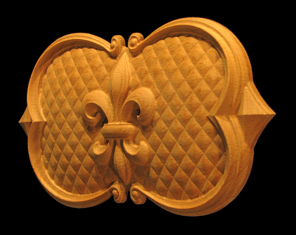 Onlay  - Fleur de Lis #3 in Oval