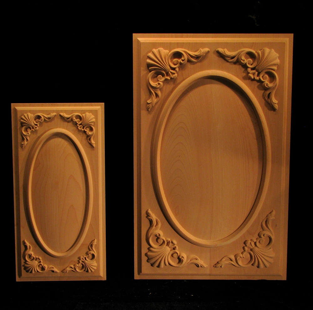 Carved Door Panels - Ovals and Shells