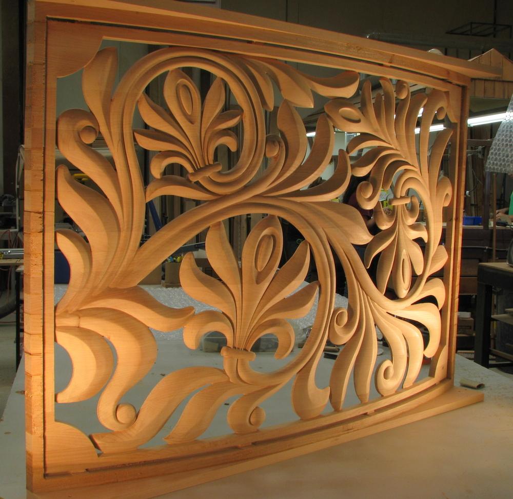 Curved Palmette Panel