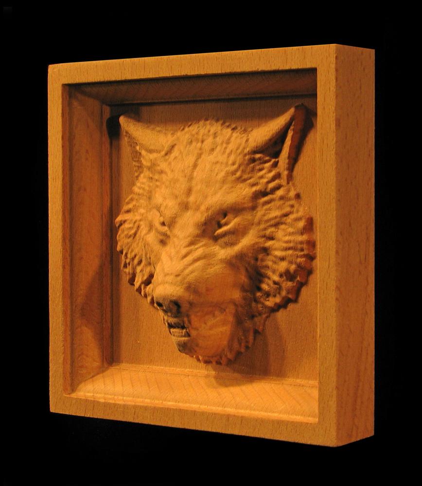 Corner Block - Wolf with Teeth