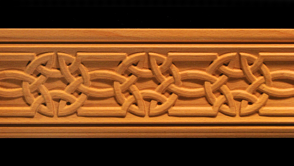 Moulding Celtic Knot Carved Wood