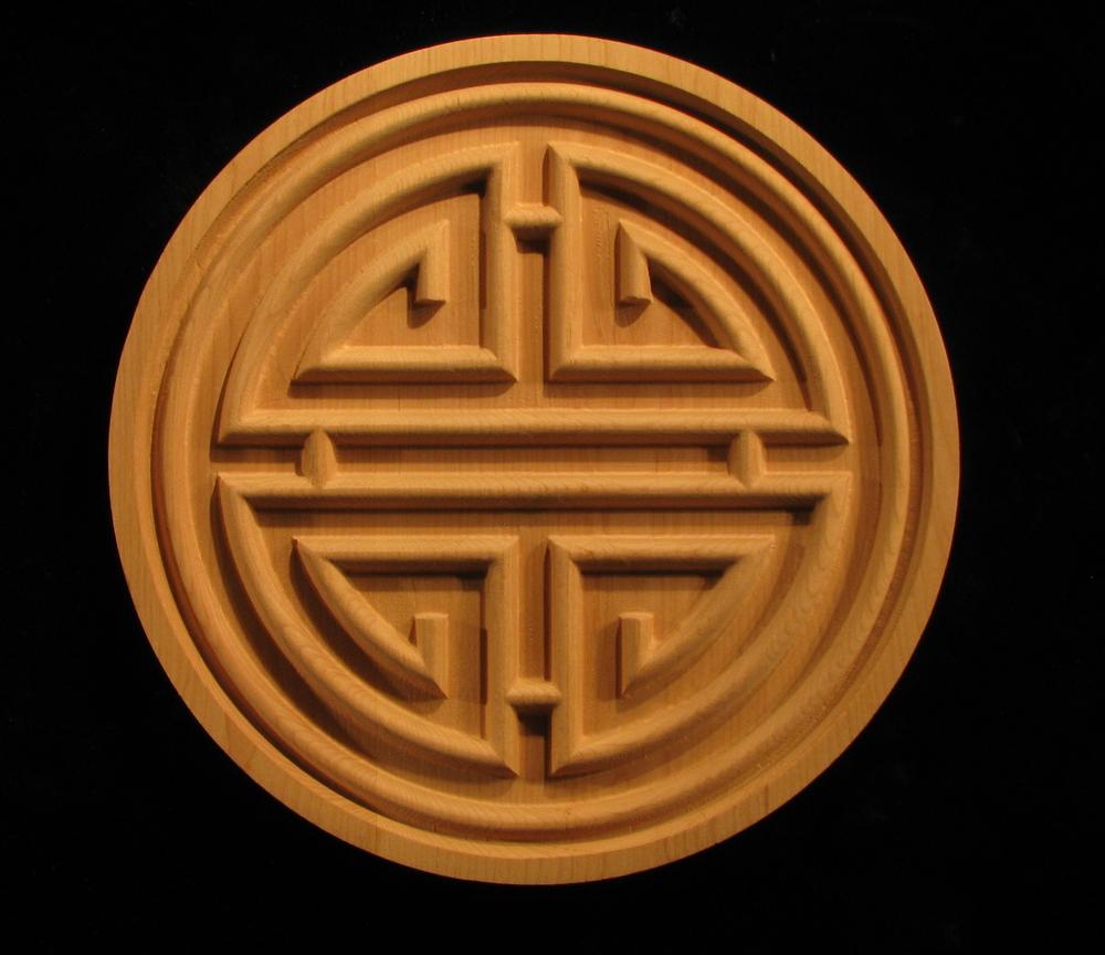 Medallion Carved Prosperity Symbol