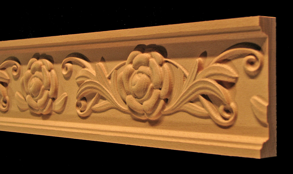 Frieze Moulding- Camellia Flower and Scroll