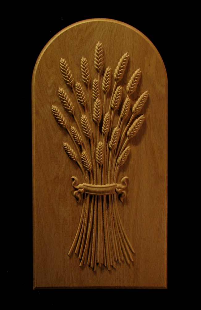 Carved Wheat Panel