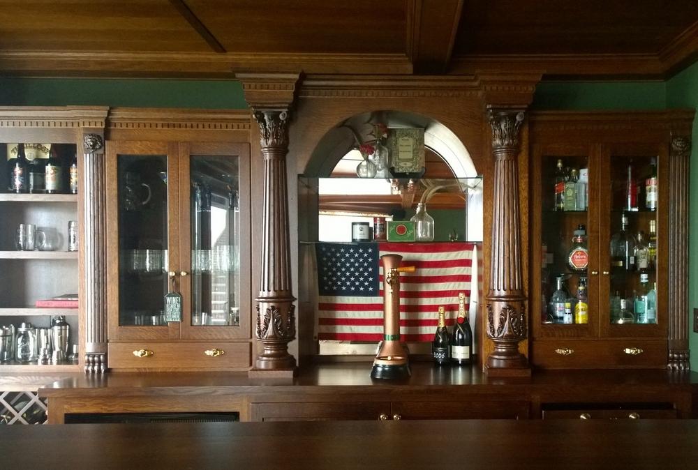 Corinthian Columns on a Bar