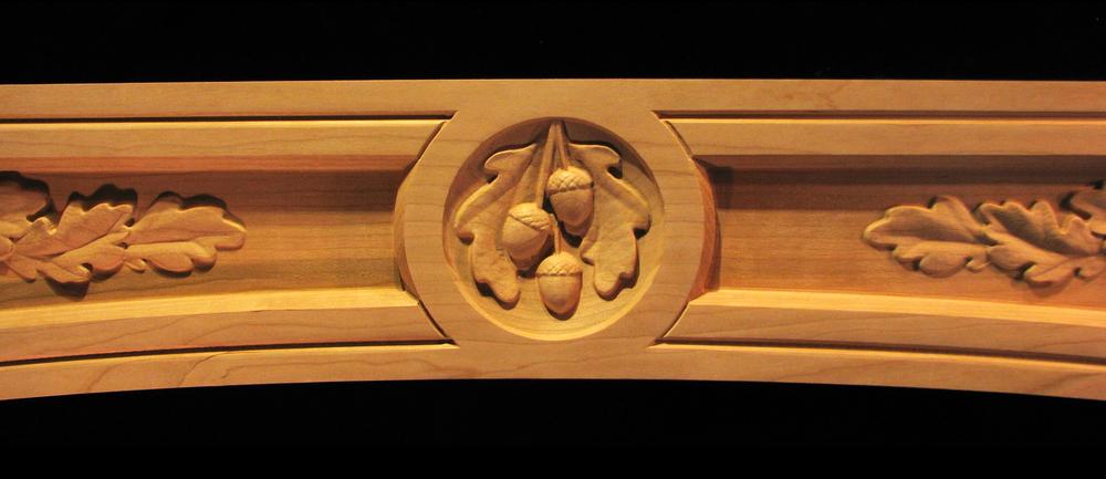Range Hood Panel - Oak Leaves and Acorns