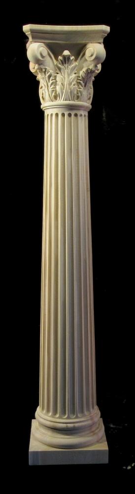Wooden Column Full or Half Round - Corinthian 8