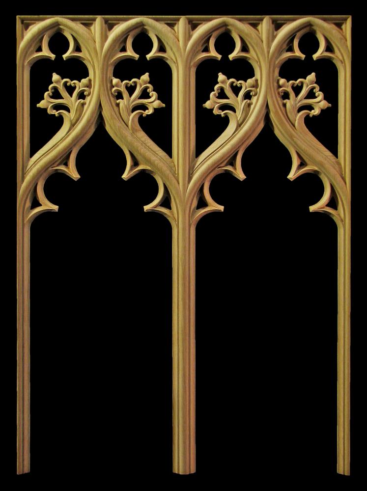 Gothic Mullion Panel w Floral