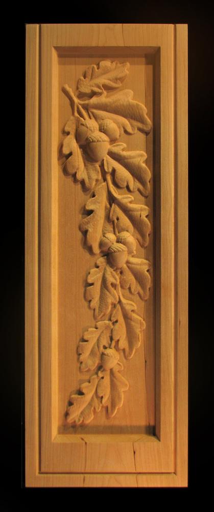 Panel - Oak Leaves and Acorns