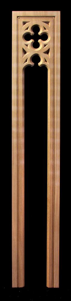 Pilaster -Gothic Quatrefoil- Pierced