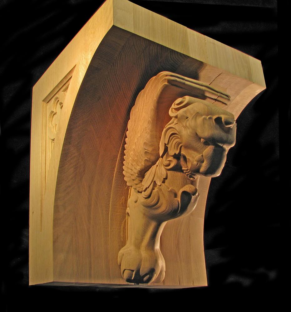 Winged Lion Corbel - 16 x 16 x 19