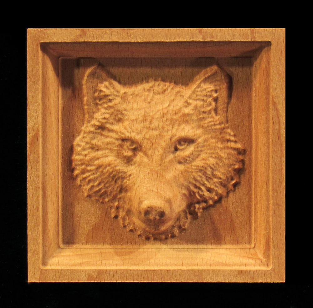 Corner Block - Wolf with Closed Mouth