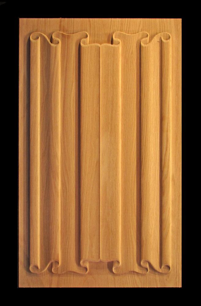 Panel - Linenfold (Folded Linen) Carving #2