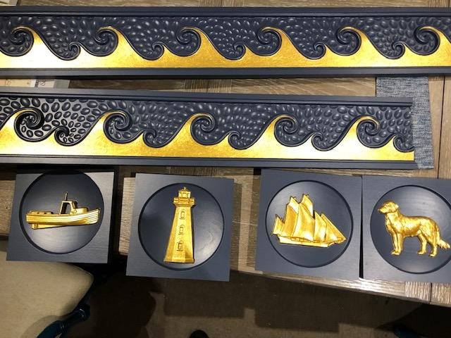 Valentine Interiors - Nautical Gold Leaf Blocks