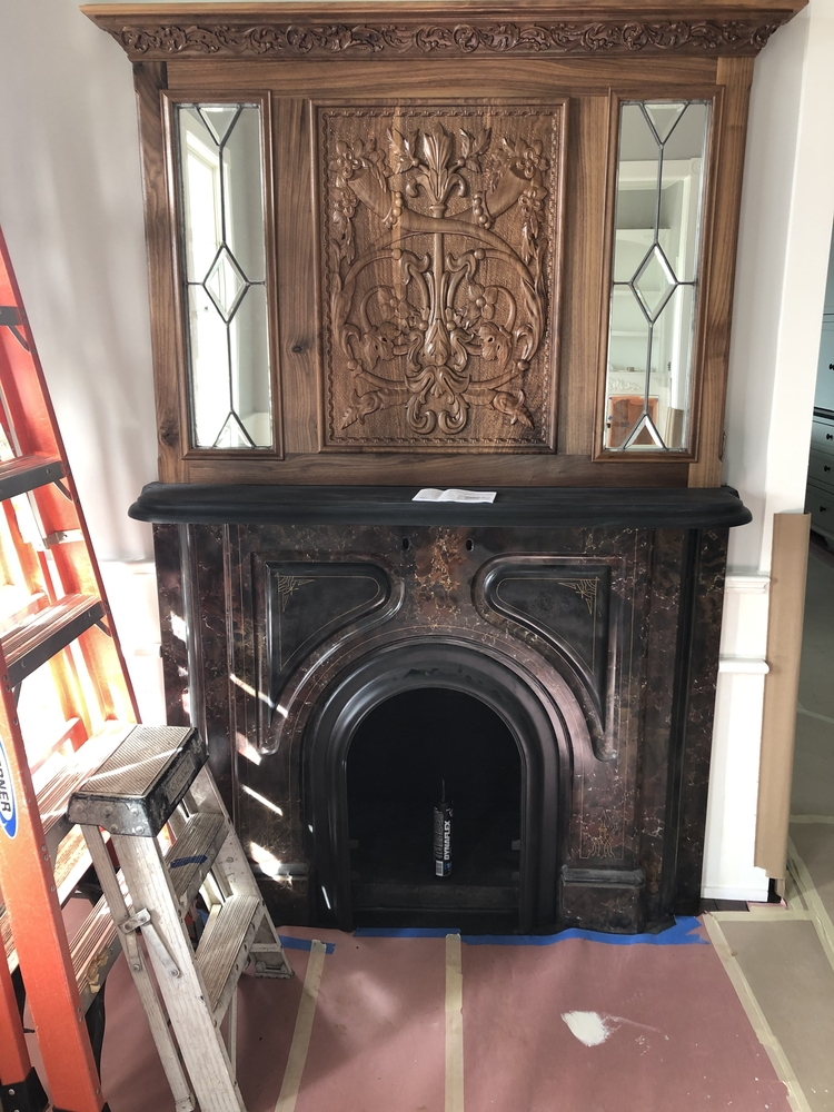 Carved Panel for Fireplace
