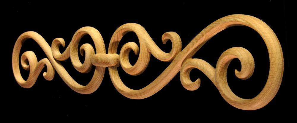 Onlay - Scrolled - Decorative Iron