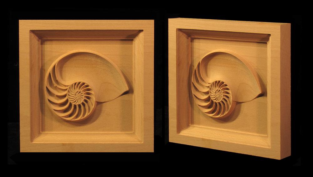 Nautilus Shell Corner Block
