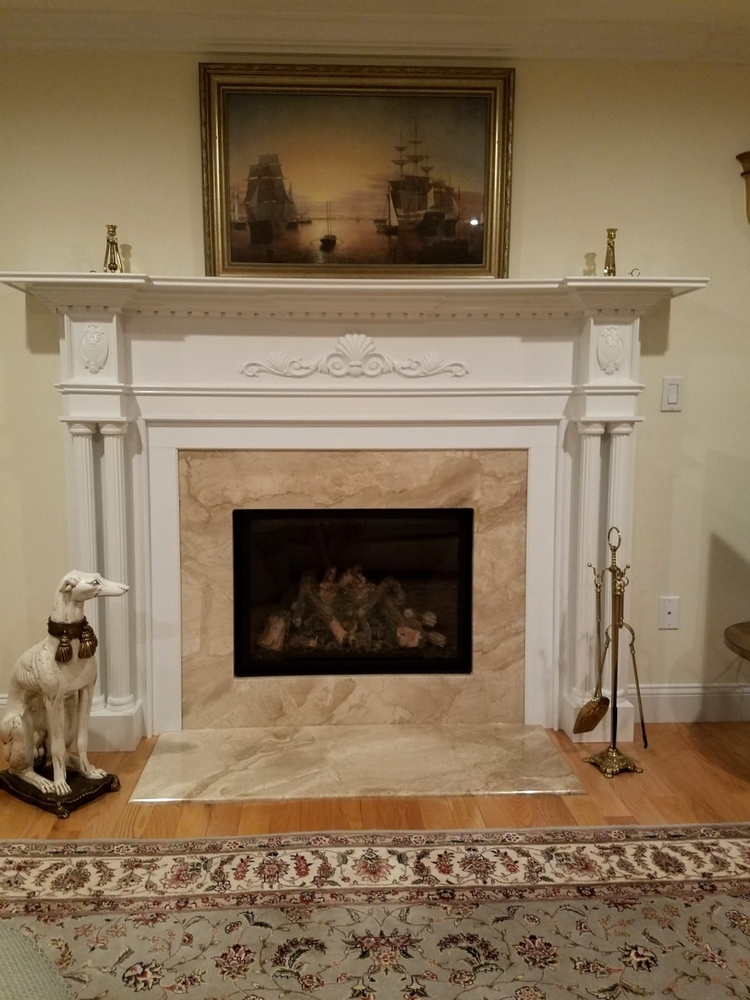 Fireplace Mantel with Accents