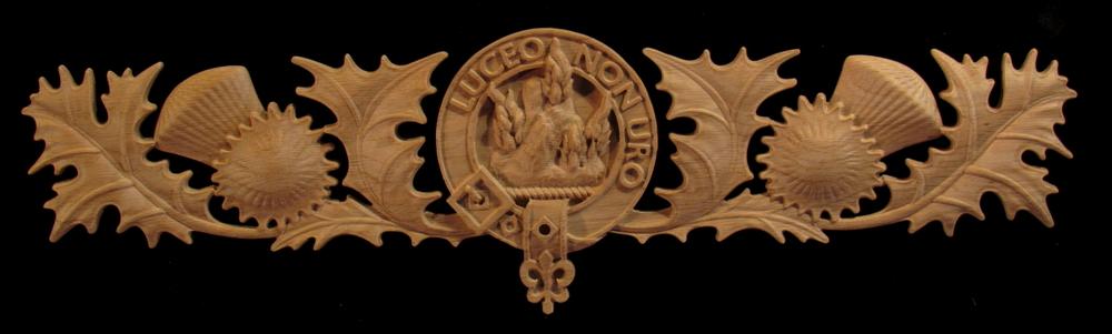 MacKenzie Clan Crest and Thistle Onlay