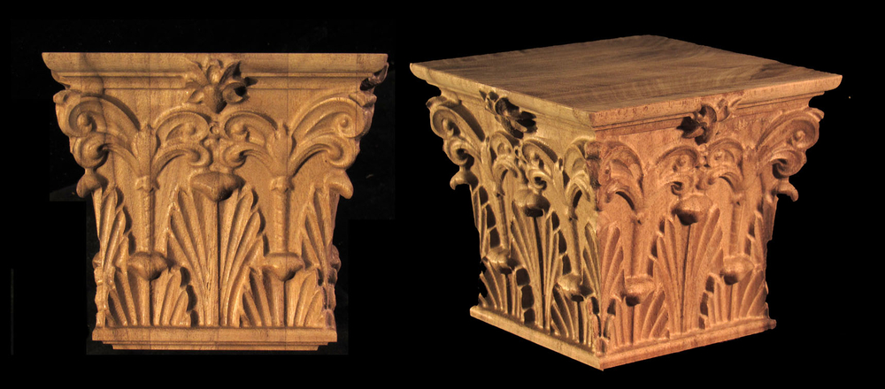 Acanthus with Palm Volutes Capital