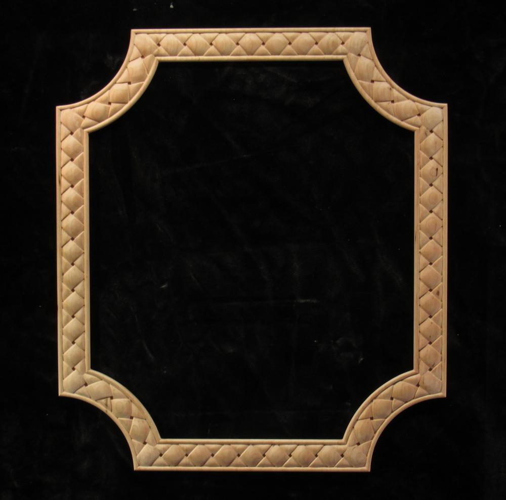 Square Weave Frame - radiussed corners