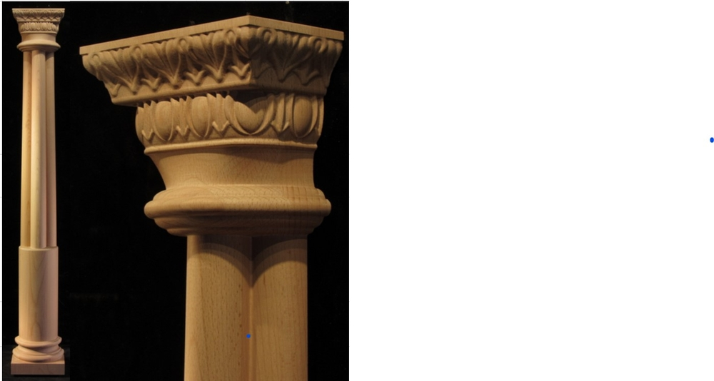 Custom Column with Lambs Tongue and Egg and Dart Capital