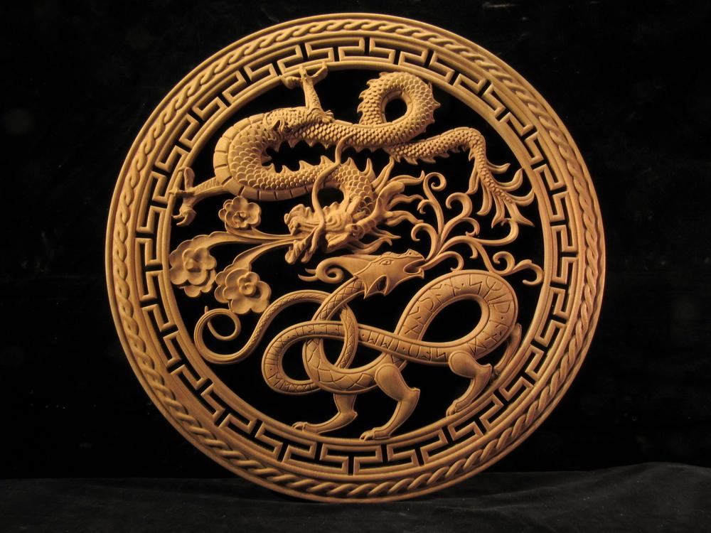 Dueling Dragons  Medallion