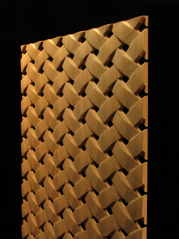 Carved wood panels pattern simple weave