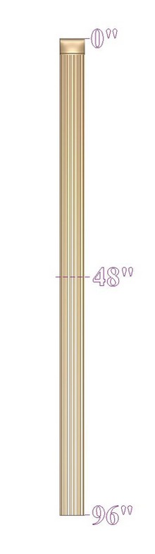 Pilaster - Round Fluting w Squared Top
