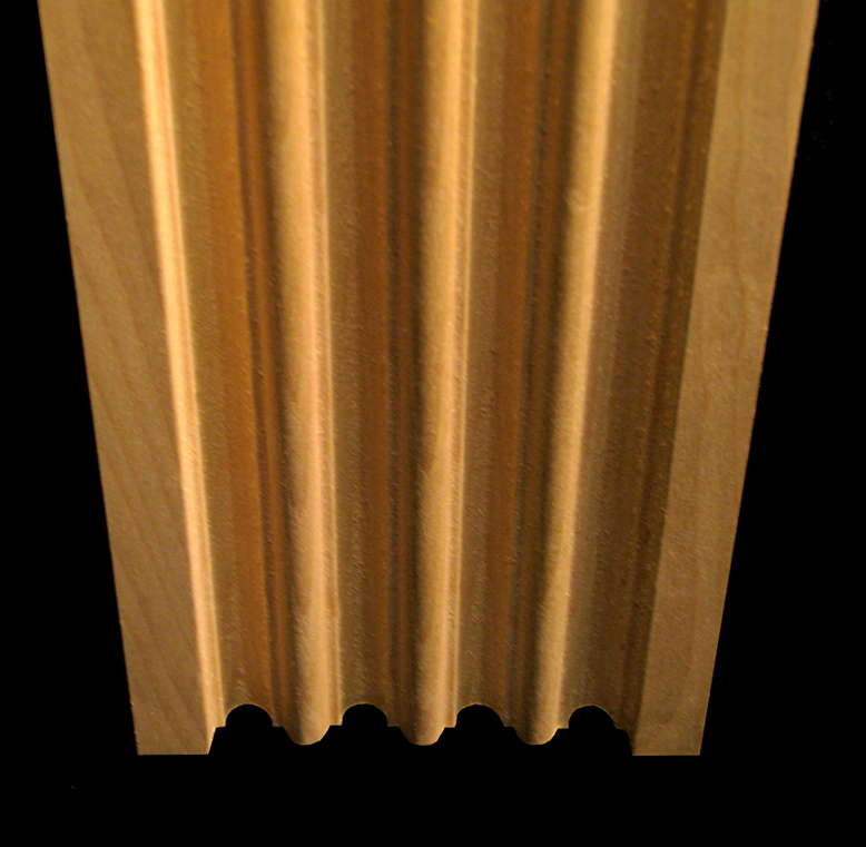 Pilaster - Fluted with Roundovers