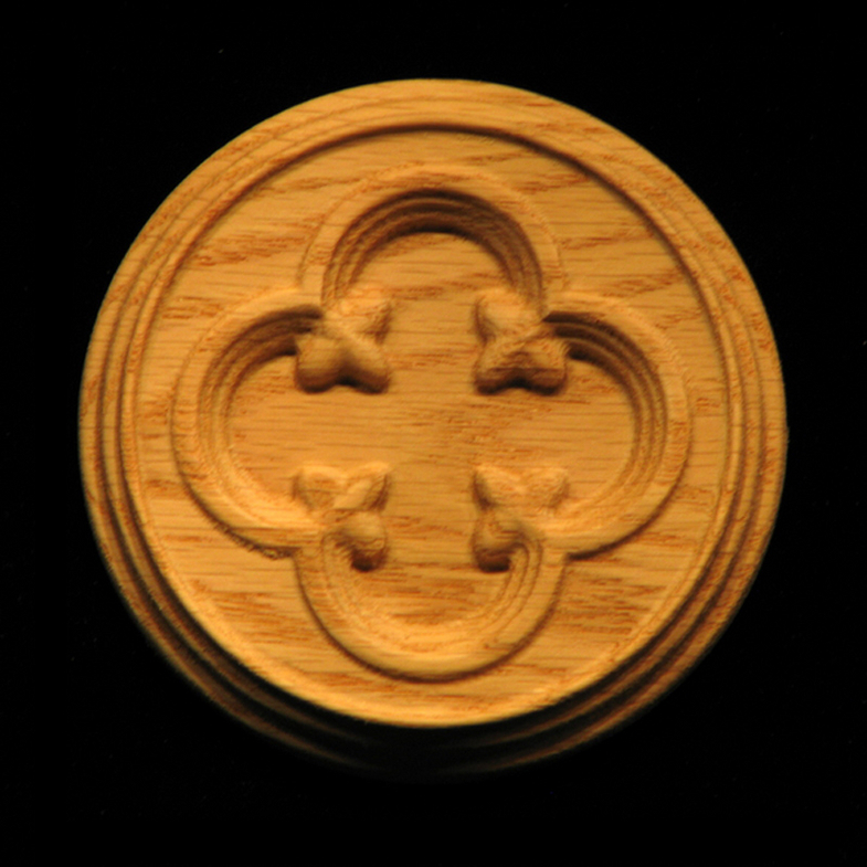 Carved Wood Rosette Carved Gothic Circle