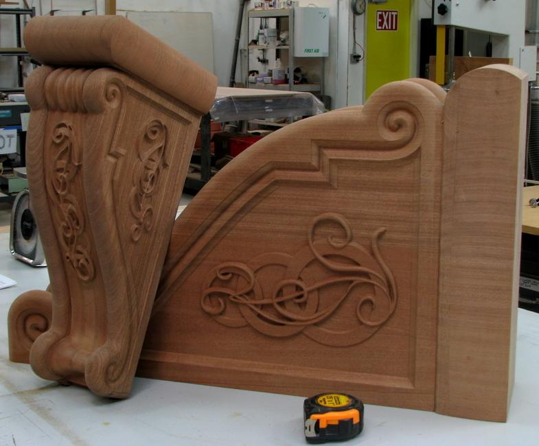 Large Celtic Nouveau Corbel