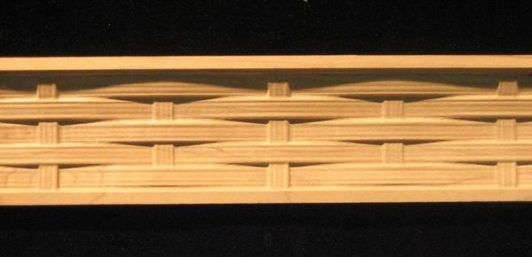 Decorative Wood Moulding-Frieze- Carved Basket Weave