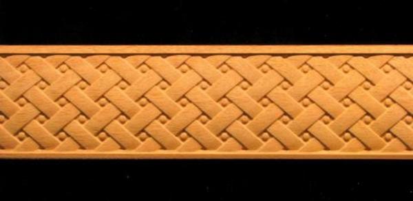 Image Frieze Moulding - Weave Pattern w Bolts