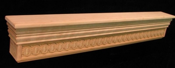 Mantel Shelf - Carved Egg & Dart Frieze