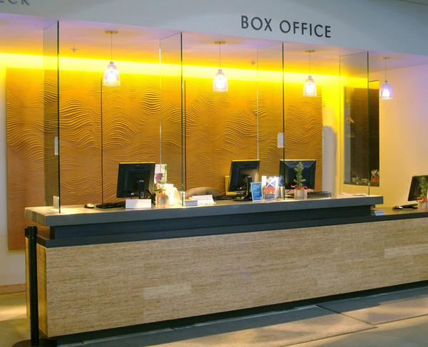 Image Carved Decorative Panel - Gerding Theater Ticket Office - Portland.