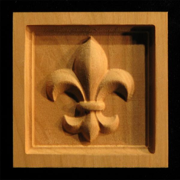 Image Corner Block - Fleur de Lis #1