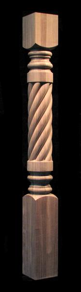 Column Post - Spiral - Full or Half Round  Columns - Full ...