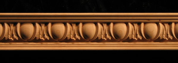 Crown Molding Egg And Acanthus Wood Carved