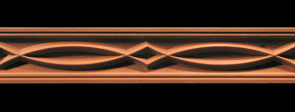 Frieze- Arches and Points Decorative Carved Wood Moulding