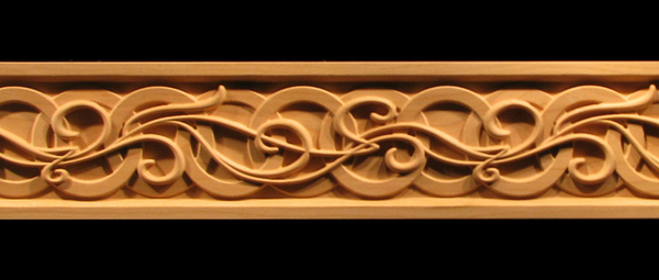 Frieze celtic nouveau decorative carved wood molding