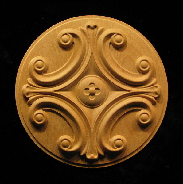 Image Medallion - Cruciform Volutes