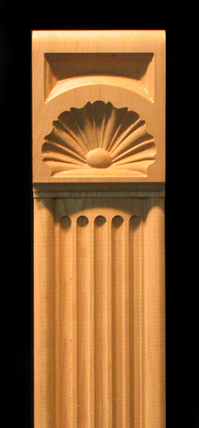 Image Pilaster - Ionic style with Linenfold Shell capital