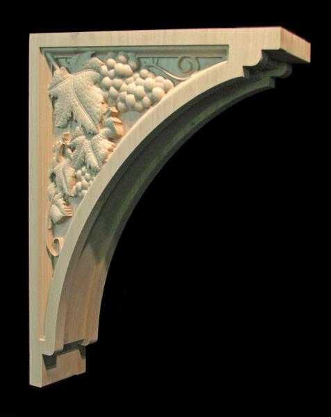 Image Bracket - Wine Grapes - 20T x 16D x 4W